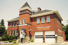 Historic Hall and Fire Station in Independence Royalty Free Stock Photo