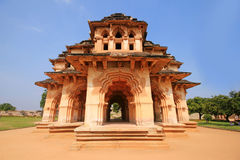 Historic Hampi lotus Mahal in India Royalty Free Stock Image