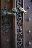Historic handle. Historic door with handle. Wood Royalty Free Stock Photos