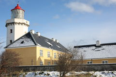 Historic Hanstholm Lighthouse in Denmark Royalty Free Stock Photo
