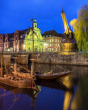 Historic harbor of Luneburg Royalty Free Stock Images