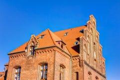 Historic harbor warehouse in Wismar Royalty Free Stock Photos