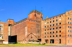 Historic harbor warehouses in Wismar Stock Images