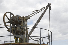 Historic harbour crane Stock Photography