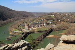 Harpers Ferry Landscape. Historic Harpers Ferry, at the confluence of the Shenandoah and Potomac Rivers in the state of West Virginia, is one of the most Royalty Free Stock Images