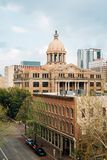 The Historic 1910 Harris County Courthouse, in downtown Houston, Texas.  royalty free stock image