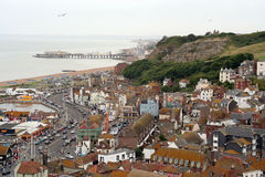 Historic Hastings town. Ariel view of historic Hastings town where battle of 1066 took place Stock Photos