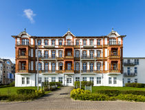 Historic Haus Seeblick at the promenade of Ahlbeck Royalty Free Stock Photo
