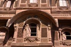 Historic Haveli facade. In jaisalmer,rajasthan Stock Image