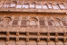 Historic Haveli facade Royalty Free Stock Image