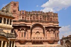 Historic Haveli facade. In jaisalmer,rajasthan Stock Photos
