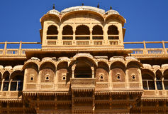 Historic Haveli facade Stock Photo