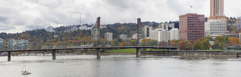 Historic Hawthorne Bridge Portland Oregon Stock Images