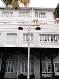 Historic heritage hotel in Georgetown, Malaysia. A photograph showing a beautiful and grand famous hotel in Penang, Malaysia, built by the british during Royalty Free Stock Images