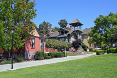 Historic Heritage Park Row in San Diego Royalty Free Stock Images
