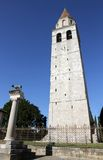 Historic high Bell Tower of the town of AQUILEIA 2 Stock Photo