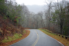 Historic Highway. Smokey Mountains Road to Nowhere in the Great Smokey Mountains National Park Royalty Free Stock Photos