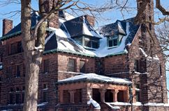 Historic Hill Mansion. St. Paul, Minnesota, USA – JANUARY 23, 2018: The largest home on St. Paul's historic Summit Avenue, the elegant Hill House royalty free stock photos