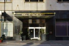 The historic Hilton Netherland Plaza Hotel in the Carew Tower, Cincinnati. CINCINNATI, OH - The historic Hilton Netherland Plaza Hotel is located in the landmark royalty free stock image