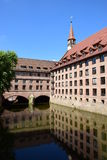 Historic Holy Spirit Hospital (HEILIG GEIST SPITAL) in Nuremberg, Germany Stock Photos