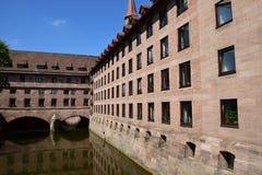 Historic Holy Spirit Hospital (HEILIG GEIST SPITAL) in Nuremberg, Germany Royalty Free Stock Photos