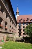 Historic Holy Spirit Hospital (HEILIG GEIST SPITAL) in Nuremberg, Germany Stock Photography