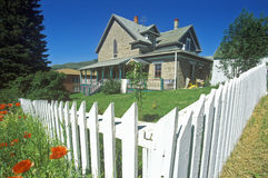 Historic home. With white picket fence,  Virginia City, MT Stock Photography