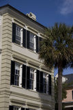 Historic home in Charleston. Exterior of historic house on East Bay Street in Charleston, South Carolina, U.S.A Royalty Free Stock Images