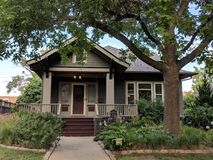 Sioux Falls Historic Homes: Craftsman Bundalow. A historic home in Sioux Falls in Craftsman Bungalow style architecture stock photos