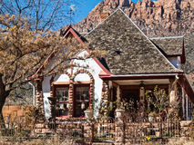 Historic home, Springdale, Utah. Architecture compliments the landscape, Springdale, Utah Royalty Free Stock Photo