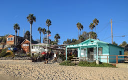 Historic homes in the Crystal Cove State Park. stock photo