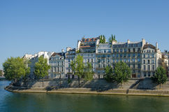 Historic homes on Ile St-Louis overlooking the Seine Royalty Free Stock Images