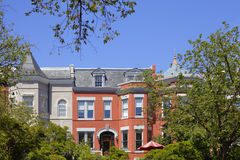 Historic homes in Washington DC Royalty Free Stock Images