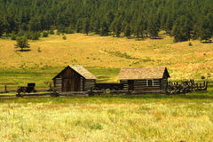 Historic Homestead. A historic homestead in Colorado United States Stock Image