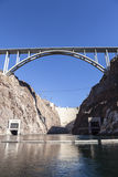 Historic Hoover Dam and It's Newly Opened Bypass Bridge Stock Images