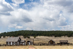 Historic Hornbeck Homestead Colorado Ranch Farm. This is a historic landmark in southern colorado located in the Florissant Fossil Beds National Monument area royalty free stock image