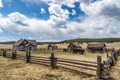 Historic Hornbeck Homestead Colorado Ranch Farm. This is a historic landmark in southern colorado located in the Florissant Fossil Beds National Monument area Stock Image