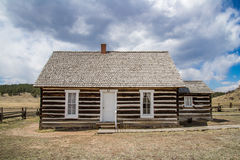 Historic Hornbeck Homestead Colorado Ranch Farm. This is a historic landmark in southern colorado located in the Florissant Fossil Beds National Monument area stock photos