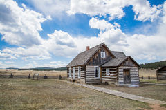 Historic Hornbeck Homestead Colorado Ranch Farm. This is a historic landmark in southern colorado located in the Florissant Fossil Beds National Monument area stock images