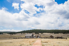 Historic Hornbeck Homestead Colorado Ranch Farm. This is a historic landmark in southern colorado located in the Florissant Fossil Beds National Monument area royalty free stock images