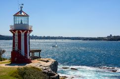 Free Historic Hornby Lighthouse, Also Known As South Head Lower Light, Erected In 1858 In NSW, Australia Stock Photo - 118299690