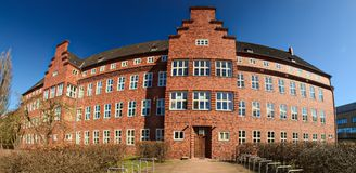 Historic hospital, listed as monument in Greifswald, Germany.  Stock Photo