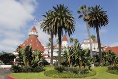 Historic Hotel台尔科罗纳多在圣地亚哥 免版税库存照片