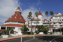 Historic Hotel台尔科罗纳多在圣地亚哥 免版税库存图片
