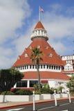 Historic Hotel台尔科罗纳多在圣地亚哥 库存照片