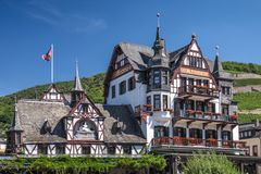 Historic hotel in Assmannshausen Royalty Free Stock Images