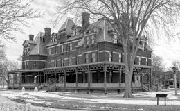 Historic Hotel Florence Renovation. Historic Hotel Florence in the Pullman District on the far southside of Chicago Stock Photo