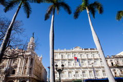 The historic Hotel Inglaterra near Central Park in Havana Stock Photography