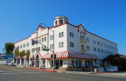 Historic Hotel in Laguna Beach, CA. Historic Hotel Laguna overlooking the Main Beach was built in 1930 in the Mission Revival style. Architecturally and Stock Photography