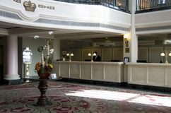 Historic hotel lobby Stock Photo